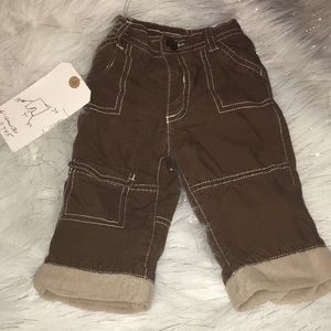 Old Navy Brown Pants 6-12Mos A7